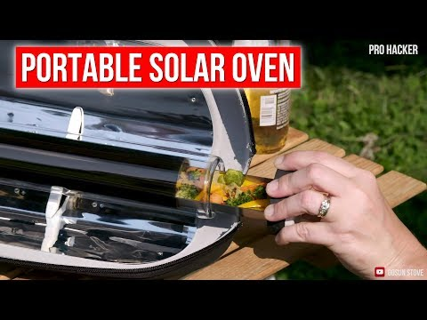 GoSun Go Portable Solar Cooker works with 100% solar power | Boil Water and Cook Food