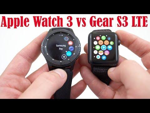 Apple Watch Series 3 LTE vs Samsung Gear S3