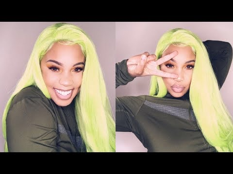 💚💚I DYED A SYNTHETIC WIG LIME GREEN! | Under $10 🙀🤑 |   HairSpells