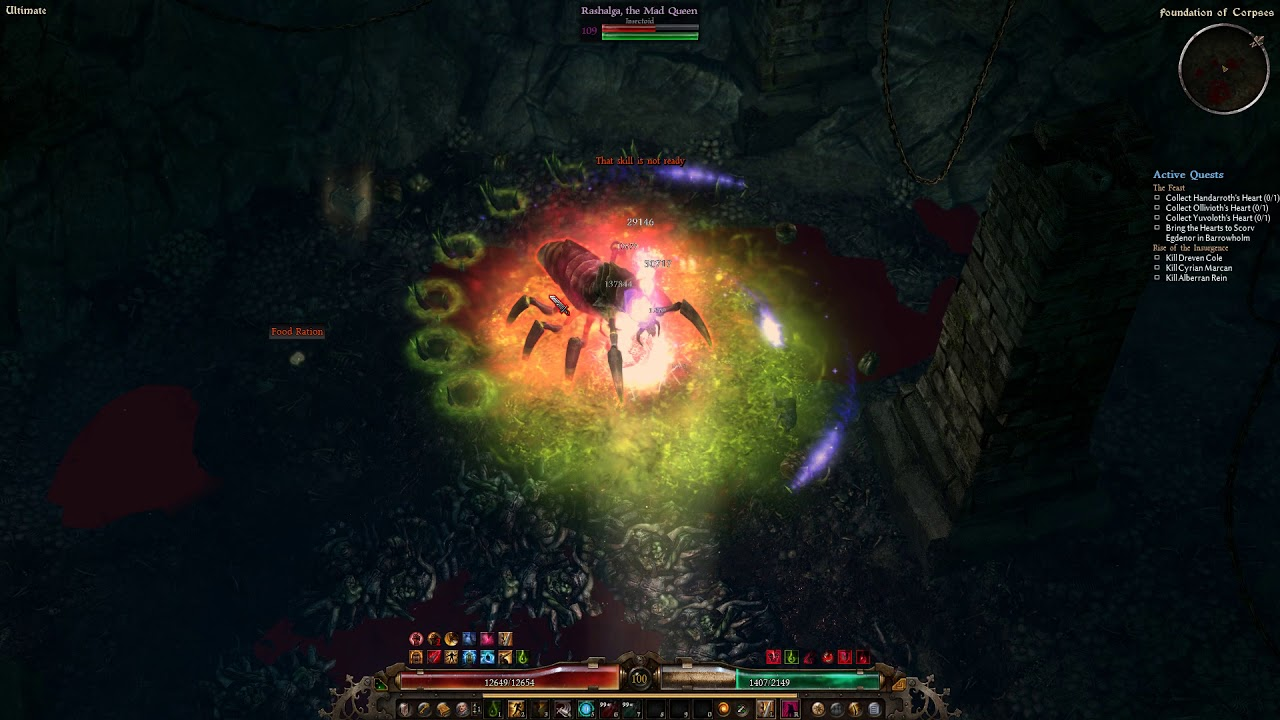 [Grim Dawn] DW Warborn Witchblade - Mad Queen Clip