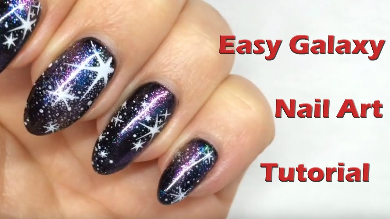 Easy Galaxy Nails using Magpie Glitter Dusts & Stamping - Nail Art ...