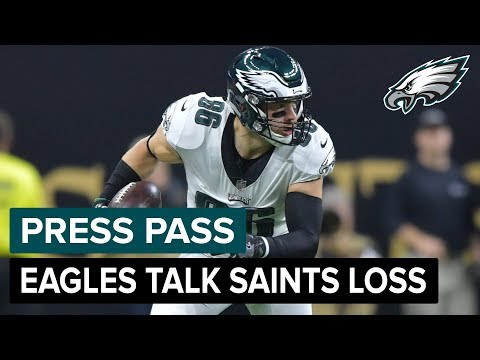 Eagles Players React To Playoff Loss To Saints | Eagles Press Pass Compilation