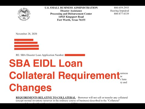 SBA EIDL Collateral Requirement Changes | SBA EIDL Loan Updates