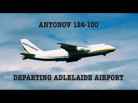 Antonov 124-100 departing Adelaide Airport.