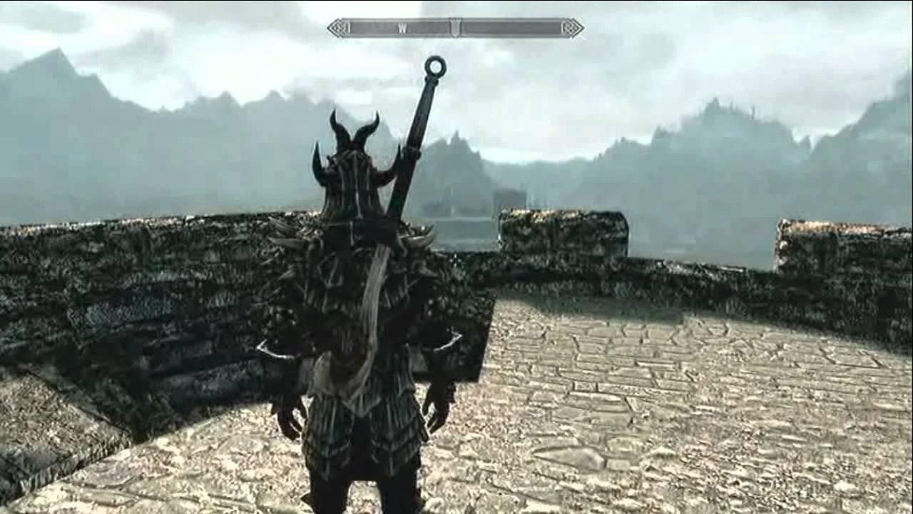 Skyrim Dragonbone Weapons Youtube