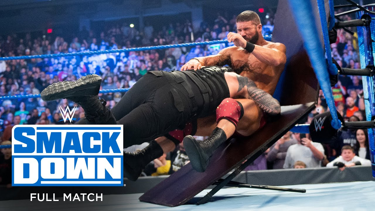 FULL MATCH - Roman Reigns vs. Robert Roode – Tables Match: SmackDown, Jan. 17, 2020