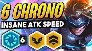 6 CHRONO INSANE ATTACK SPEED! TFT SET 3 GAMEPLAY | Teamfight Tactics | League of Legends