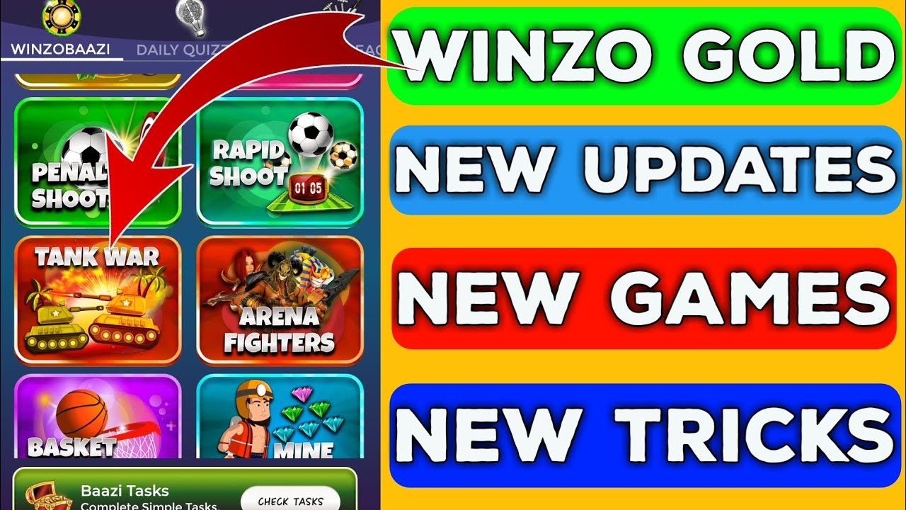 WinZo Gold New Tank War Games Update | How To Play Tips And Tricks | TrickySK
