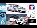 Assetto Corsa VS iRacing -  Porsche 911 GT3 Handling Comparison