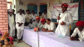 Ramlal Jat- MLA Bhilwara - addressing people of place- KABRADIYA- 1.