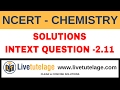 NEET/IIT JEE/ NCERT: Solutions -Intext question 2.11