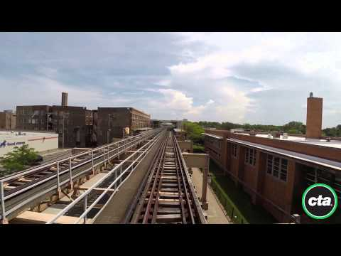 CTA Ride the Rails: Green Line - Garfield to Cottage Grove in Real Time