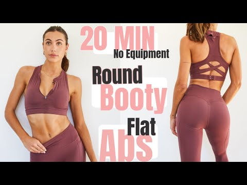 20 MIN Booty & Abs - At Home Workout // No Equipment  + Calorie Burn // Sami Clarke