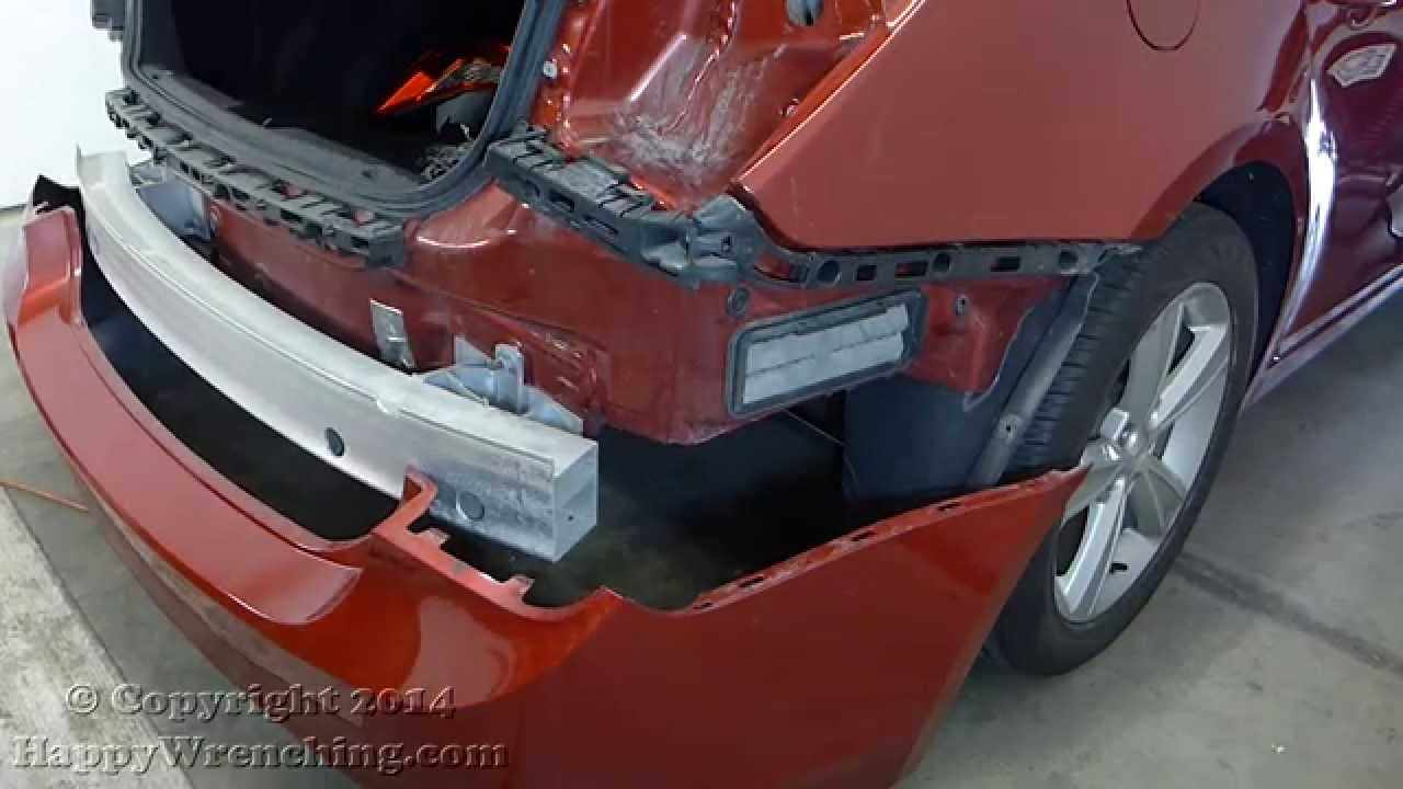 2006 impala wiring diagram vga to rca adapter chevrolet chevy cruze rear bumper cover removal and installation (2012 - 2014) youtube