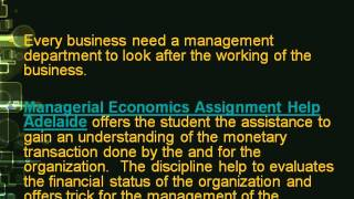 Managerial Economics Assignment Help Adelaide