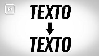 Tutorial photoshop  Como evitar texto serrilhado?