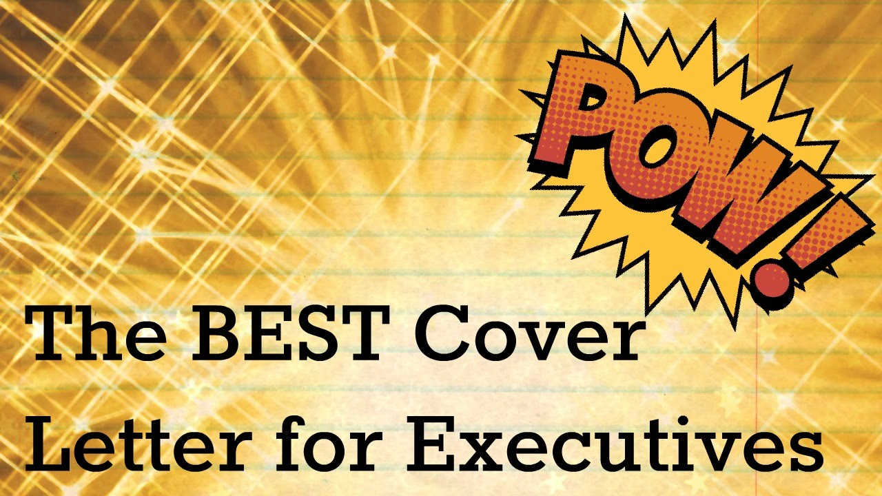 resume tips  the best cover letter for an executive resume
