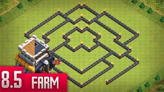 Clash Of Clans - Melhor Layout de Farm para Centro de Vila 8.5 (Town Hall 8 Farming Base) 2017