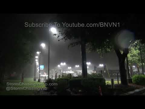 Hurricane Florence Overnight in Wilmington NC - 9/13/2018