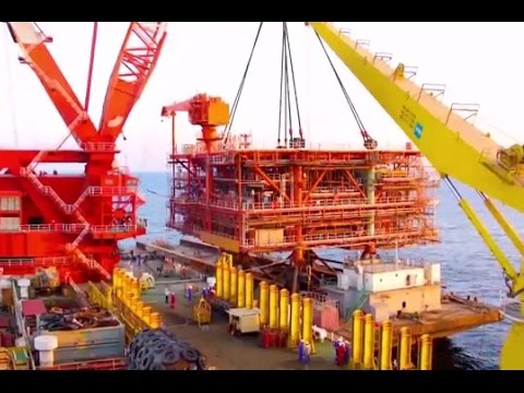 Offshore Platform Installation  Jacket Installation and Tops