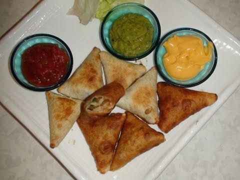 Mexican Tortilla Samosa Recipe Video - Indian Mexican Recipe- Fusion