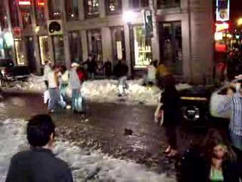 Girl Gets Nailed in St. Patrick's Day Fight