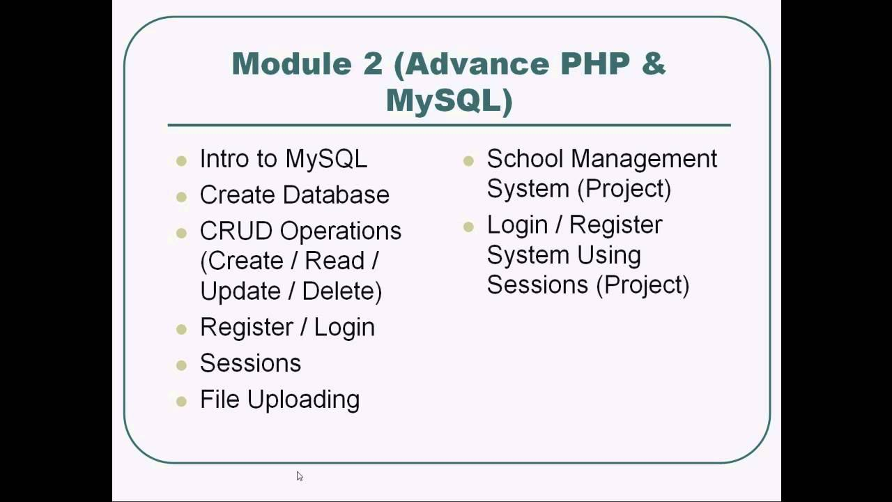 Php And Mysql Tutorial In Urdu Hindi Complete Lecture 1 Youtube