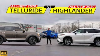 NEW 3-ROW KING?? -- 2020 Toyota Highlander vs. 2020 Kia Telluride: Comparison