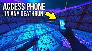 New Fortnite Glitch = Get The Phone In Any Death Run - Win Any Custom Game (fortnite Glitches)