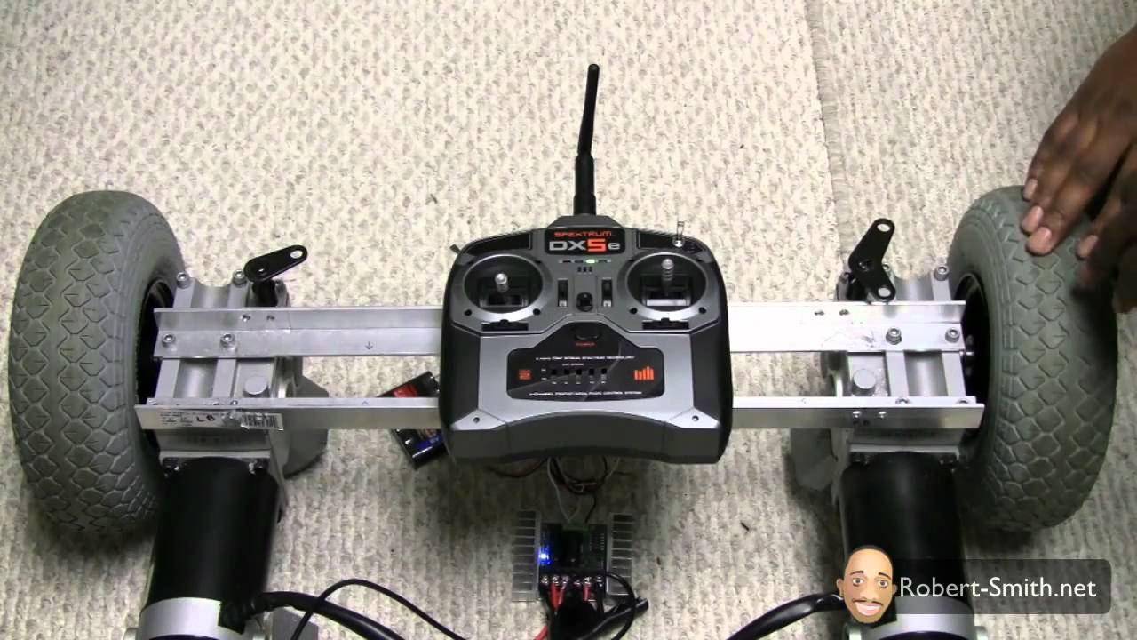 Power Wheelchair Controller Wood Waiting Room Chairs Rc Lawn Mower Project Update - Transmitter/receiver Testing Youtube