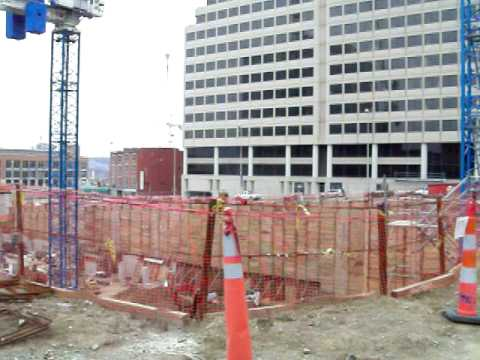 Downtown Cincinnati Construction Site for the City's Tallest Building