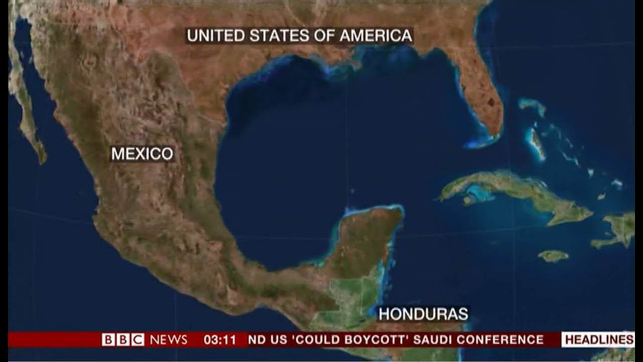 1,000 walking through the Americas (Honduras Migrants) - BBC News - 14th  October 2018
