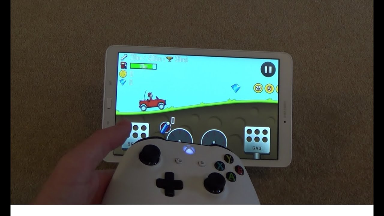 2017 Android Gaming on a Samsung Galaxy Tablet with Xbox One S Controller