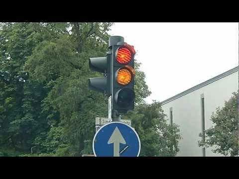 German Traffic Light. Changes Differently than in the States
