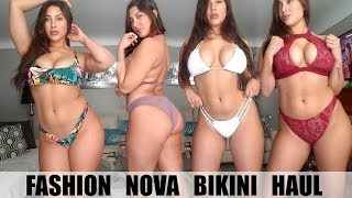 huge bikini try on haul ft fashion nova