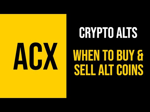 CRYPTO - How To Know When & Where To Buy & Sell Alt Coins