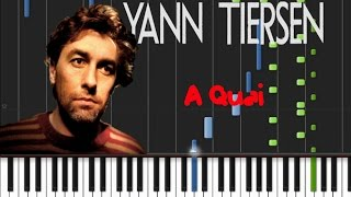 Yann Tiersen - A Quai [Synthesia Tutorial]