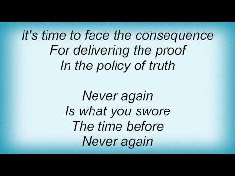 Depeche Mode - Policy Of Truth Lyrics
