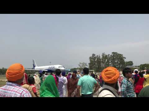 Indigo airlines at amritsar airport