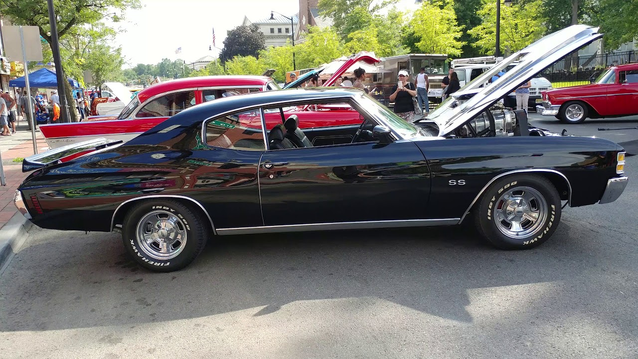 1971 BLACK CHEVROLET CHEVELLE SS 350 SUPERCHARGED ENGINE