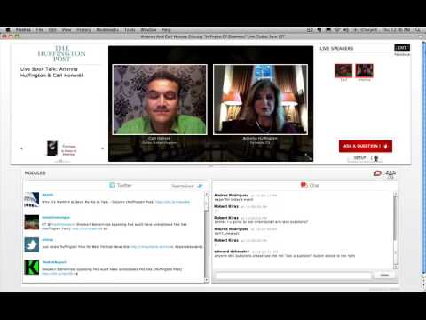 Arianna Huffington interviews author Carl Honore on VOKLE - pt.1