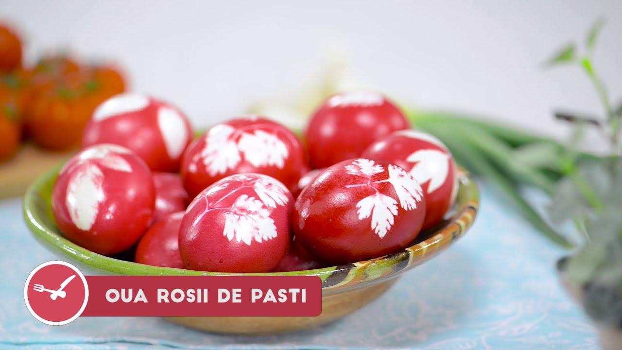 Cum sa faci oua rosii vopsite de Pasti