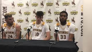 Hunter Maldonado, Jordan Naughton, Hunter Thompson talk Wyoming's exhibition win