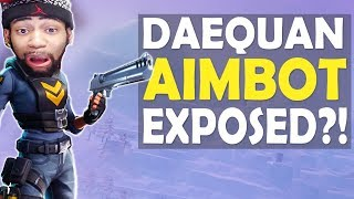 DAEQUAN AIMBOT EXPOSED?! | CRAZY AIM | HIGH KILL FUNNY SPIEL - (Fortnite Battle Royale)