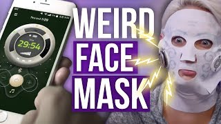 ELECTRIC Korean Face Mask?! (Beauty Break)