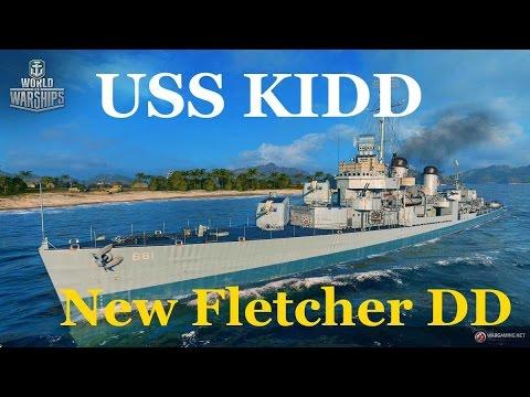USS Kidd- New Premium Fletcher DD