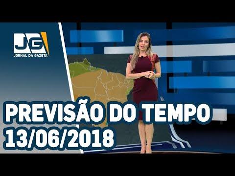 Previsão do Tempo - 13/06/2018