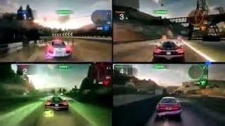 Blur (1-4) players xbox 360 Split screen on 4 friends