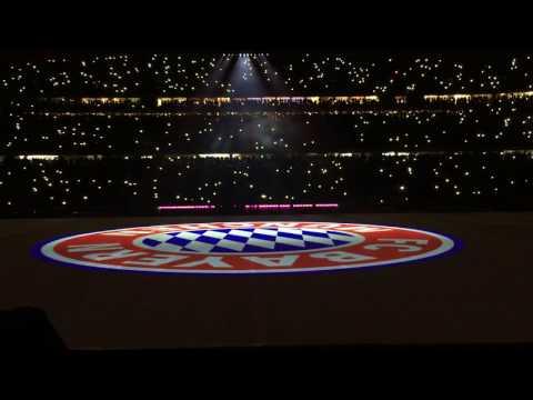 FC Bayern vs RB Leipzig, spektakuläre 3D-Laser-Show, Allianz Arena