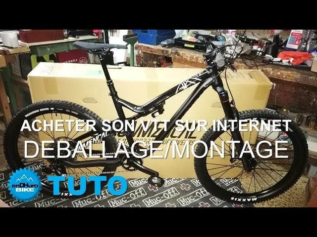 vid o tuto acheter son vtt sur internet d ballage et montage du commencal meta v4 2 endhuro. Black Bedroom Furniture Sets. Home Design Ideas